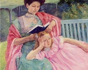 Auguste Reading to Her Daughter Cassatt