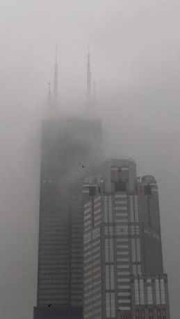 Willis Tower fog