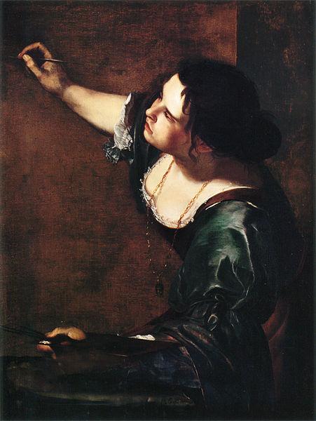 Artemisia self-portrait